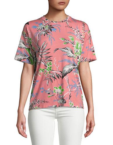 Diane Von Furstenberg Tropical Graphic Boyfriend Tee-PINK-X-Small 90078329_PINK_X-Small
