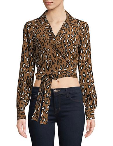 Diane Von Furstenberg Leopard-Print Silk Wrap Top-BEIGE-10 90036875_BEIGE_10