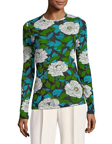 Diane Von Furstenberg Floral Fitted Top 90036798