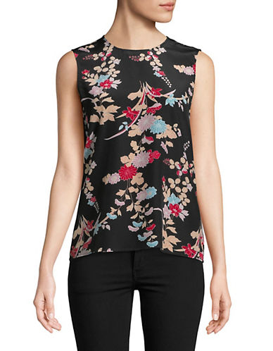 Diane Von Furstenberg Floral-Print Silk Top 90126153