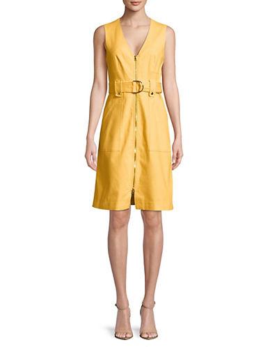Belted Zip Up A Line Dress by Diane Von Furstenberg