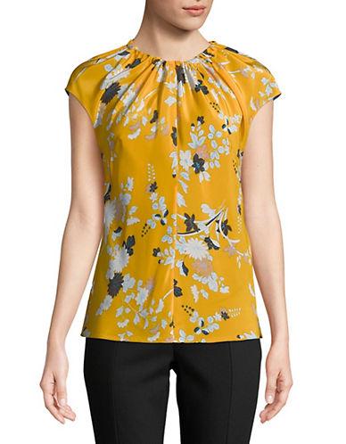 Diane Von Furstenberg Floral-Print Silk Top 90126201