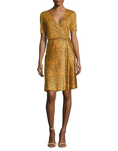 Diane Von Furstenberg Floral Silk Wrap Dress 90126210