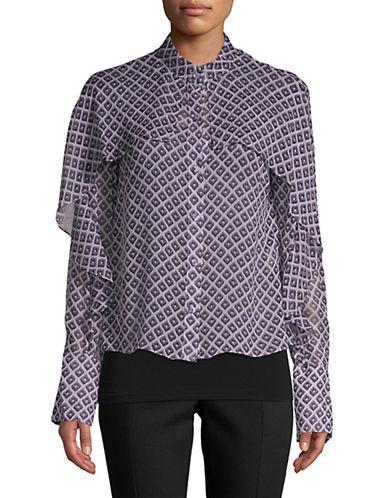Diane Von Furstenberg Ruffled Silk Top 90459527