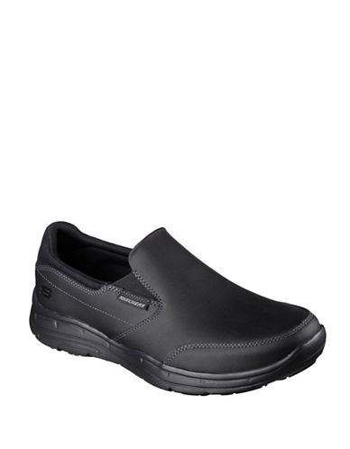 Skechers Glides Calculous Shoes-BLACK-11.5