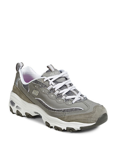 Skechers D-Lites Sneakers-GREY-8.5