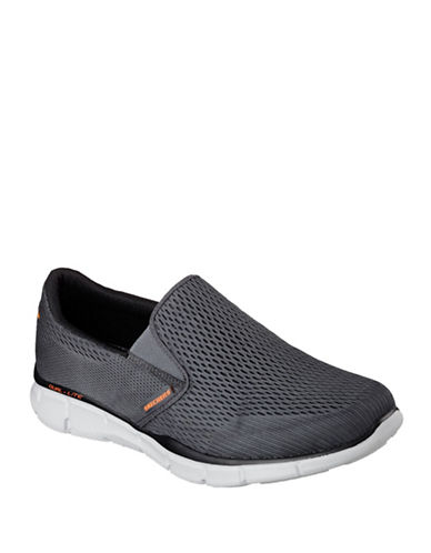 Skechers Equalizer Double Play  Slip-Ons-CHARCOAL-10