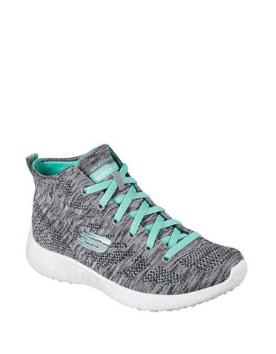 Skechers Womens Burst Divergent Sneakers-GREY-8.5