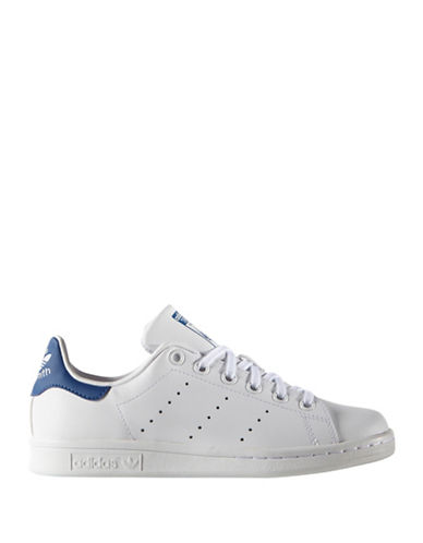 Adidas Stan Smith J Leather Sneakers-BLUE-6.5