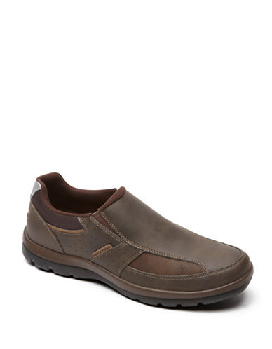 Rockport Get Your Kicks Slip-On Shoes-BROWN-8.5W