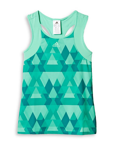 Adidas Climalite Graphic Club Tank-GREEN-X-Small