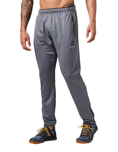 Reebok Workout Ready Stacked Logo Track Pants-GREY-Small 89073327_GREY_Small