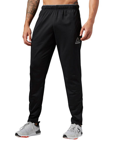Reebok Slim-Fit Workout Trackster Pants-BLACK-Small 89073332_BLACK_Small