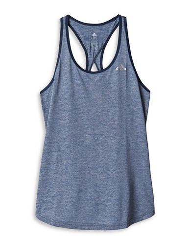 Adidas Keyhole Moisture-Wicking Tank Top-BLUE-Small 88560921_BLUE_Small