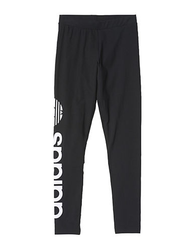 Adidas Linear Logo Leggings-BLACK-X-Large