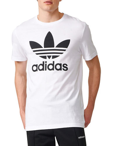 Adidas Originals Trefoil Cotton Tee-WHITE-X-Large