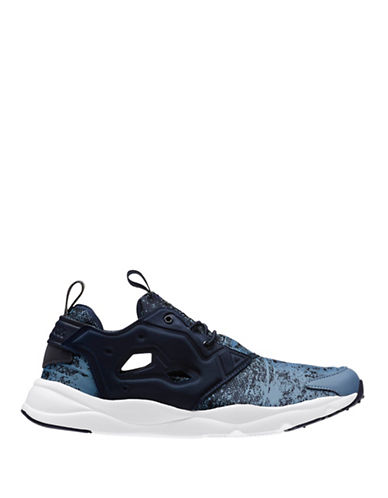 Reebok Accented Leather Sneakers-BLUE-13 88211247_BLUE_13