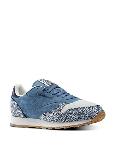 Reebok Detailed Leather Sneakers-BLUE-9.5 88211145_BLUE_9.5