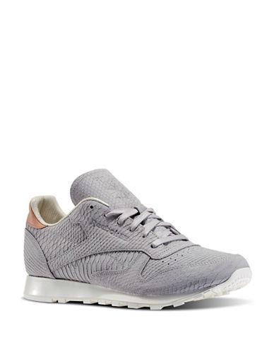 Reebok Mens Clean Lux Leather Sneakers-GREY-13 88211293_GREY_13