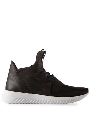 Adidas Womens Tubular Defiant Sneakers-BLACK-6
