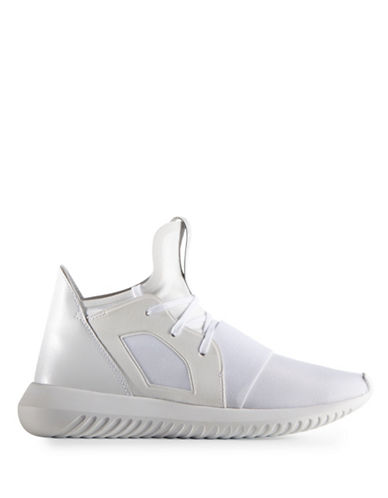 Adidas Womens Tubular Defiant Sneakers-WHITE-8.5