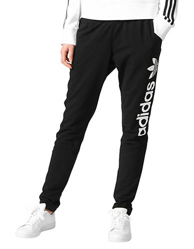 Adidas Lightweight Jogger Pants-BLACK-Medium
