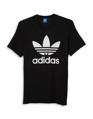 Adidas Original Trefoil Tee-BLACK-Large
