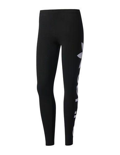 Adidas Trefoil Leggings-BLACK-Medium 89359279_BLACK_Medium