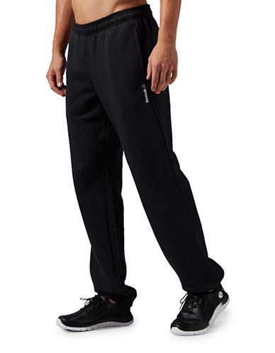 Reebok Elements Cuffed Fleece Pants-BLACK-Large 88778484_BLACK_Large