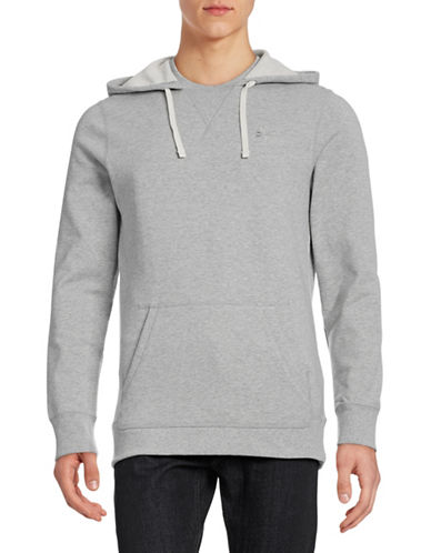 Reebok Loose-Fit Drawstring Hoodie Sweatshirt-GREY-X-Large 88239275_GREY_X-Large