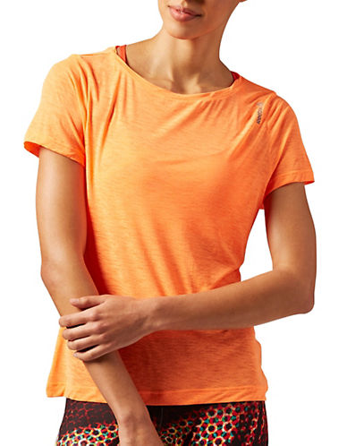 Reebok Work-Out Ready Slub Tee-ORANGE-Large 88219139_ORANGE_Large