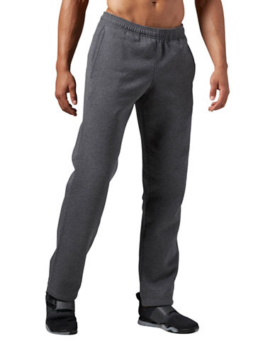 Reebok Elements Open Hem Fleece Pants-GREY-XX-Large 88889961_GREY_XX-Large