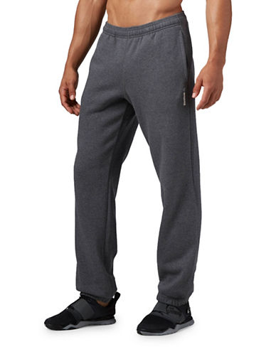 Reebok Elements Cuffed Fleece Pants-GREY-Medium 88778478_GREY_Medium