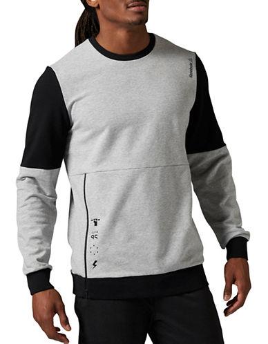 Reebok Combo Crew Neck Sweatshirt-GREY-Medium 88239278_GREY_Medium