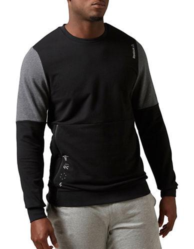 Reebok Combo Crew Neck Sweatshirt-BLACK-Large 88239284_BLACK_Large