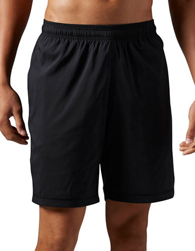 Reebok Elements Woven Shorts-BLACK-Large
