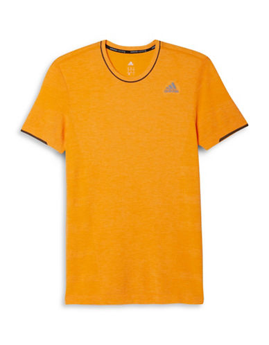 Adidas Primeknit Running T-Shirt-ORANGE-X-Large 88208872_ORANGE_X-Large