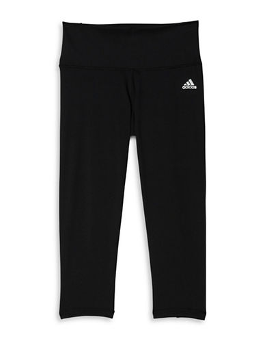 Adidas Performer Mid-Rise Three-Quarter Tights-BLACK-Large 88468826_BLACK_Large