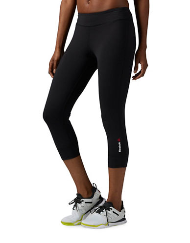 Reebok ONE Series Nylux Capris-BLACK-X-Small