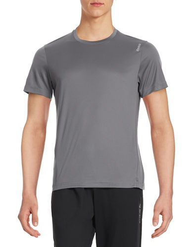 Reebok Speedwick Slim T-Shirt-GREY-Medium