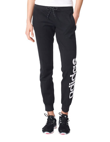 Adidas Essentials Linear Cuffed Pant-BLACK-Medium 88791522_BLACK_Medium