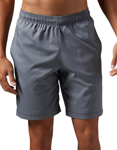 Reebok Elements Woven Shorts-GREY-Medium