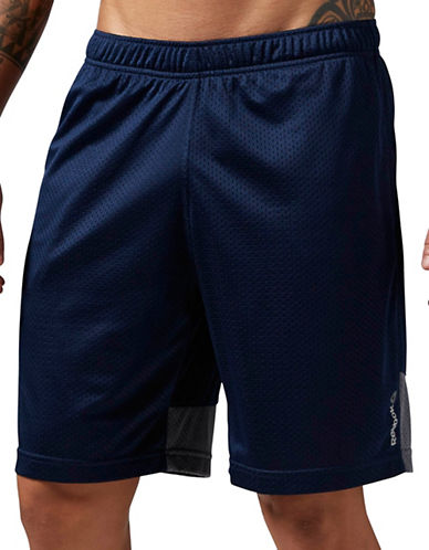 Reebok Mesh Panel Active Shorts-NAVY-XX-Large 88382256_NAVY_XX-Large