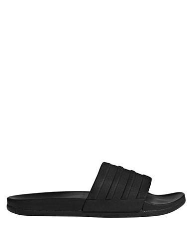 Adidas Originals Adilette Cloudfoam Mono Slides-BLACK-11