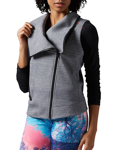 Reebok Quick Cotton Moto Zip Vest-GREY-Small 88563622_GREY_Small