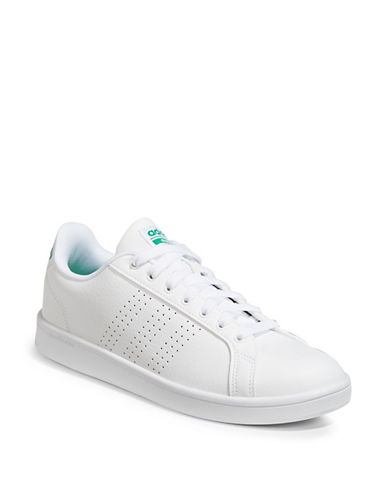 Adidas CF Advantage Perforated Low Top Sneakers-WHITE-10.5