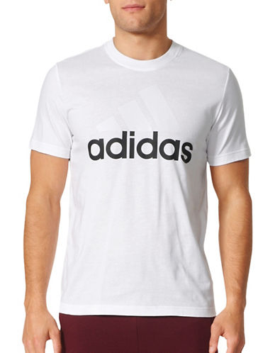 Adidas Essentials Cotton Tee-WHITE-Large 89200938_WHITE_Large