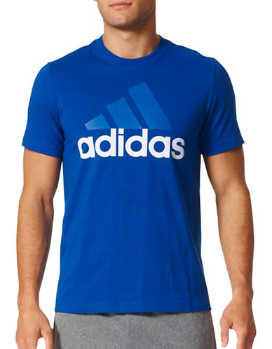 Adidas Essentials Cotton Tee-BLUE-X-Large