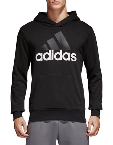 Adidas Essentials Linear Hoodie-BLACK-X-Large 89379087_BLACK_X-Large