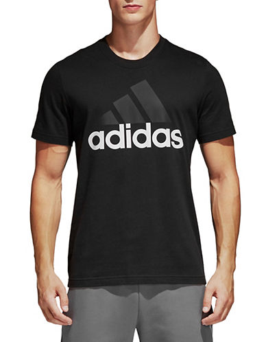 Adidas Essentials Cotton T-Shirt-BLACK-Small